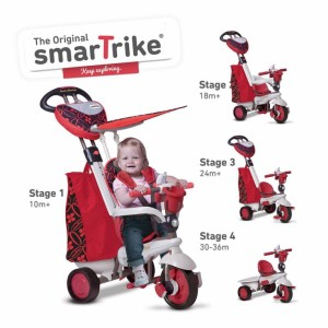 ТРИЦИКЛ DREAM TOUCH STEERING 4 IN 1 ЦРВЕН 10M+ SMART TRIKE