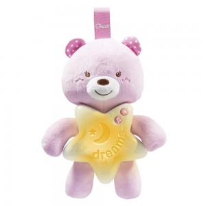 МУЗИЧКА ЛАМБА FIRST DREAMS GOODNIGHT BEAR PINK CHICCO