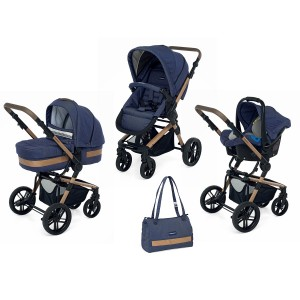 КОЛИЧКА IWOOD TRAVEL SYSTEM ACTIVE JEANS NATURAL  FOPPAPEDRETTI