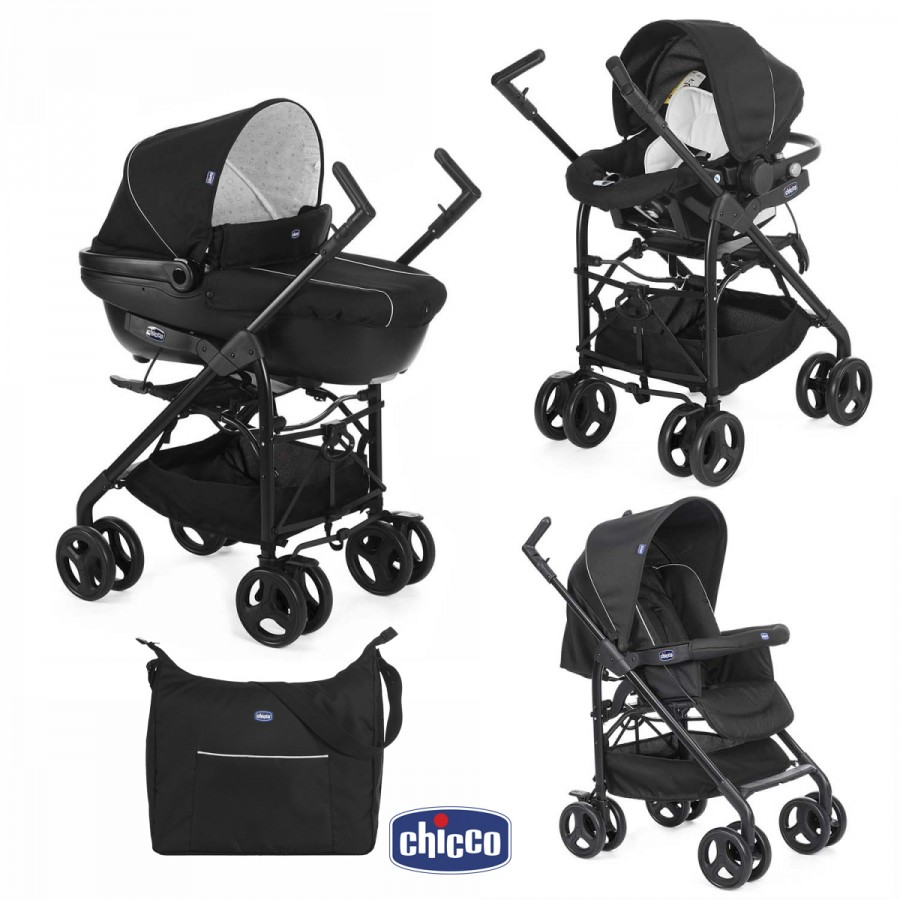 Chicco trio sprint w car kit black night chicco for Foppapedretti sprint